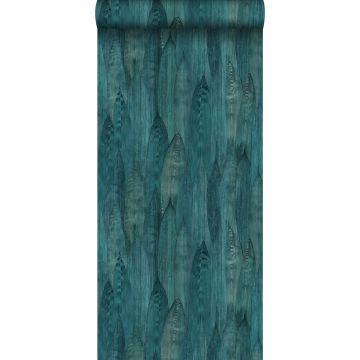 PP intissé éco texture feuilles bleu canard de Origin