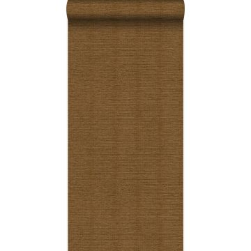 papier peint lin brun rouille de Origin