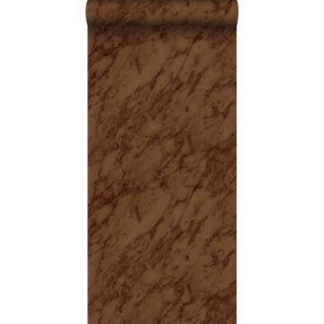 papier peint marbre brun rouille de Origin