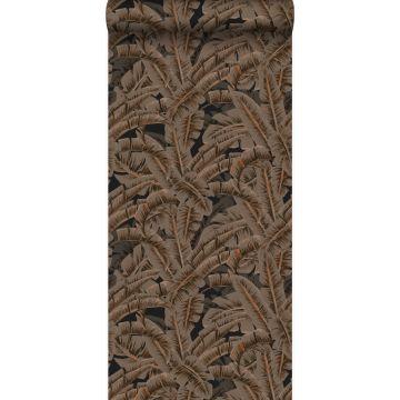 papier peint feuilles de palmier brun rouille de Origin