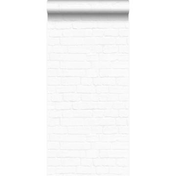 papier peint brique blanc mat de Origin