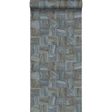 PP intissé éco texture morceaux carrés de déchets de bois gris pâle de Origin
