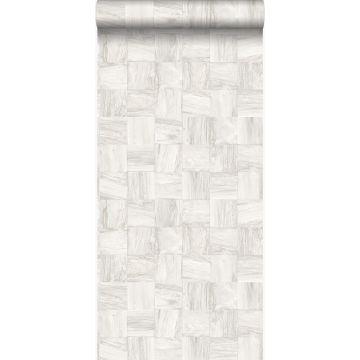 PP intissé éco texture morceaux carrés de déchets de bois blanc crème de Origin