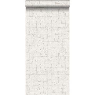 papier peint brique blanc cassé de Origin