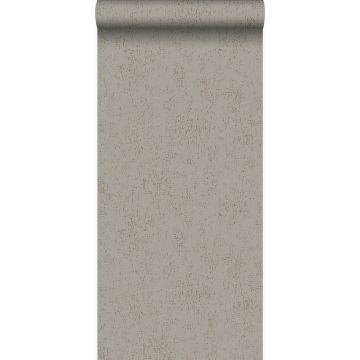 papier peint plaque métallique vieillie, altérée et touchée par les intempéries taupe de Origin