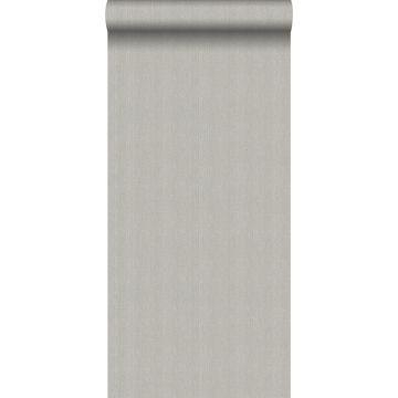 papier peint tissage à chevrons gris de Origin