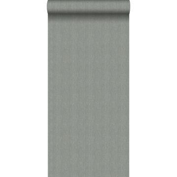 papier peint tissage à chevrons bleu gris de Origin