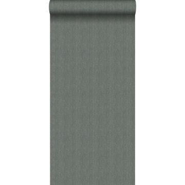 papier peint tissage à chevrons gris vert de Origin