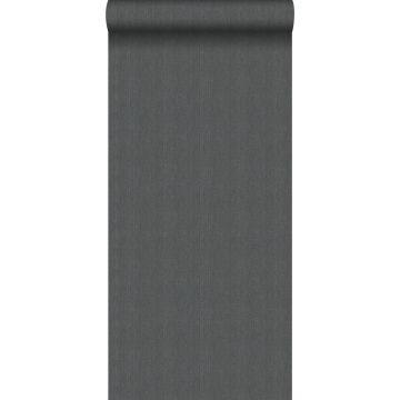 papier peint tissage à chevrons bleu grisâtre de Origin