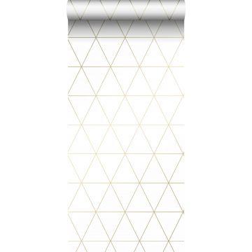 papier peint triangles graphiques blanc et or de Origin