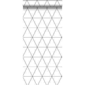 papier peint triangles graphiques noir et blanc de Origin