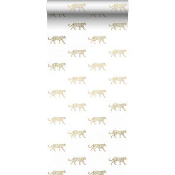 papier peint léopards blanc et or de Origin