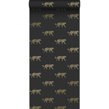 papier peint léopards noir et or de Origin
