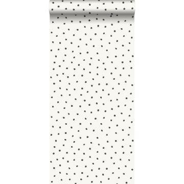 papier peint à motif de points blanc brillant et noir de Origin