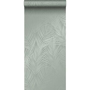 papier peint feuilles de palmier vert grisé de Origin