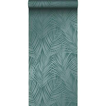 papier peint feuilles de palmier vert émeraude de Origin