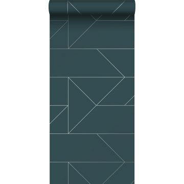 papier peint lignes graphiques bleu foncé de Origin