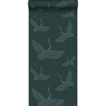 papier peint oiseaux de grue bleu canard de Origin