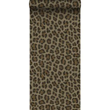 papier peint peau de léopard marron et beige de Origin