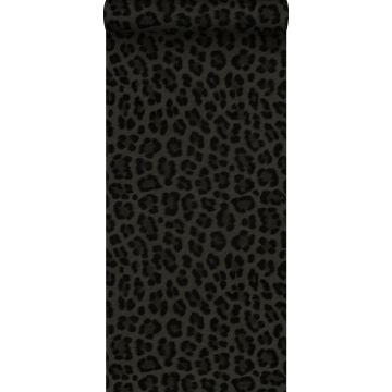 papier peint peau de léopard gris foncé et noir de Origin
