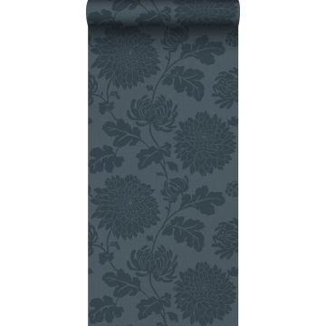 papier peint fleurs bleu foncé de Origin
