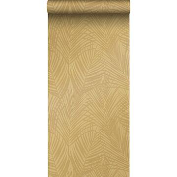 papier peint feuilles de palmier jaune ocre de Origin