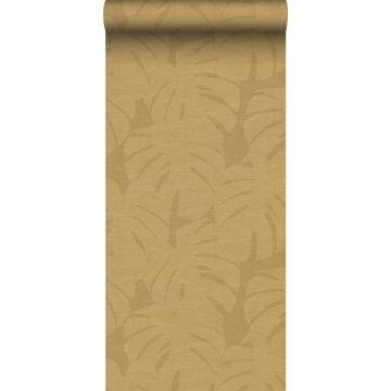 papier peint feuilles tropicales jaune ocre de Origin