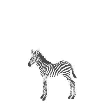 papier peint panoramique zèbres noir et blanc de Origin
