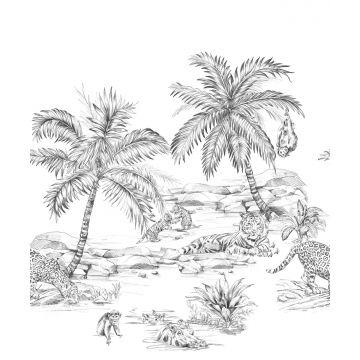 papier peint panoramique safari noir et blanc de Origin