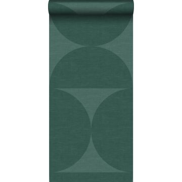 papier peint intissé XXL demi-cercles vert foncé de Origin