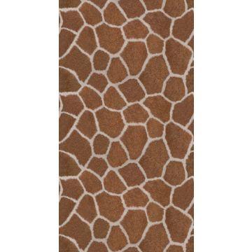 papier peint panoramique imitaiton peau de girafe marron de Origin