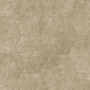 panneaux muraux éco-cuir adhésifs hexagone sable beige de Origin