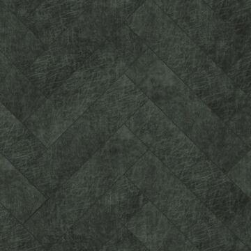 panneaux muraux éco-cuir adhésifs chevron gris charbon de bois de Origin