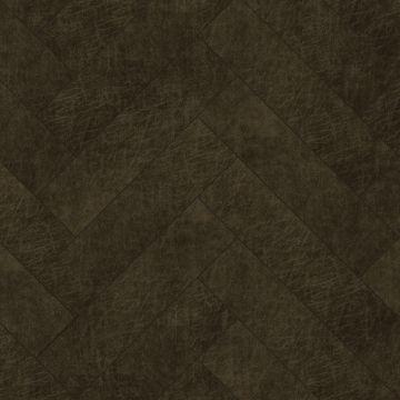 panneaux muraux éco-cuir adhésifs chevron brun foncé de Origin