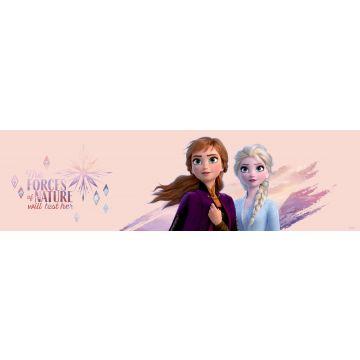 frise de papier peint adhésive La Reine des neiges rose pêche clair et violet de Sanders & Sanders