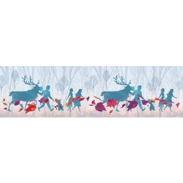 frise de papier peint adhésive La Reine des neiges bleu clair, violet et rouge de Sanders & Sanders
