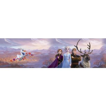 frise de papier peint adhésive La Reine des neiges violet, bleu et orange de Sanders & Sanders