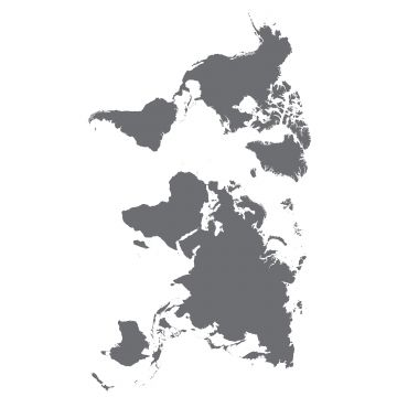 sticker mural carte du monde gris de Sanders & Sanders