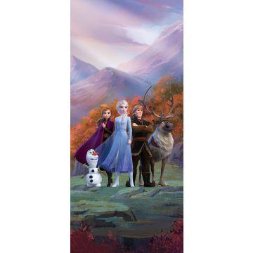 affiche La Reine des neiges violet, bleu et orange de Sanders & Sanders
