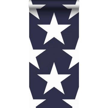 papier peint étoiles bleu marine de Sanders & Sanders