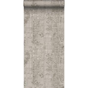 papier peint motif kilim taupe de Sanders & Sanders