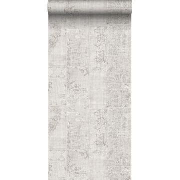 papier peint motif kilim gris clair de Sanders & Sanders
