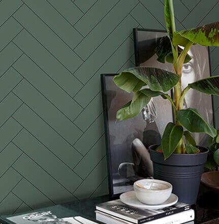 papier peint vert